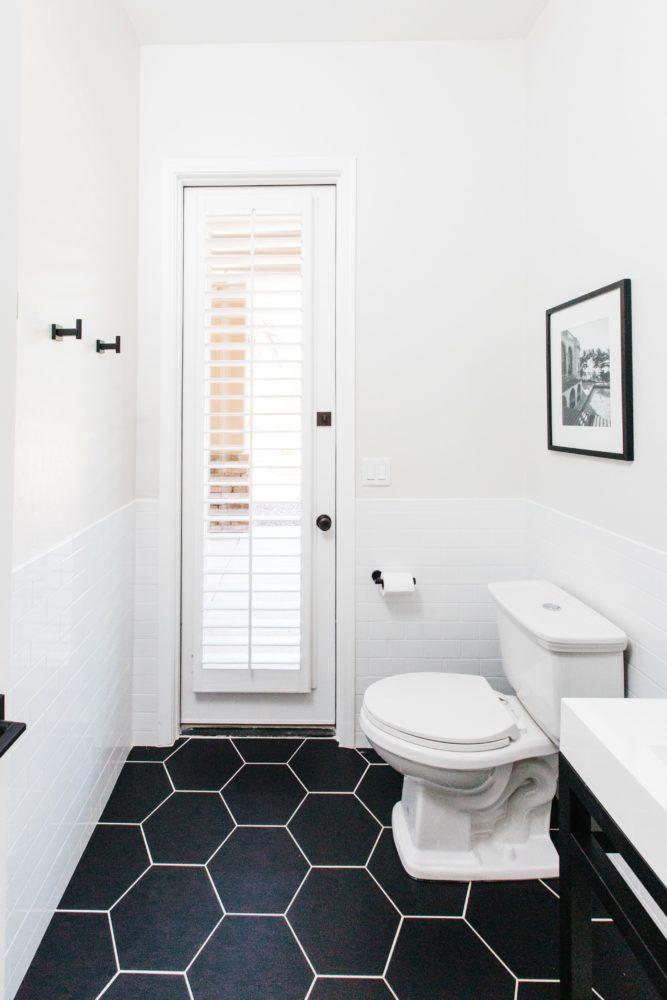 modern hexagon tile floor decor