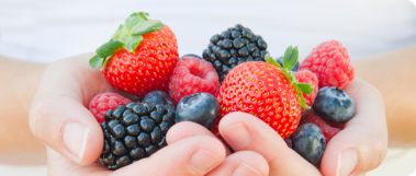 Delicious mixed berries