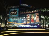 NAMM Show exterior at night