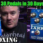 Earthquaker Devices PARK FUZZ SOUND - UNBOXING - 30 Pedals in 30 Days 2015