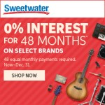 Interest Free Loan anyone?  Sweetwater has you covered for 0% interest for 48 months!  Woah!