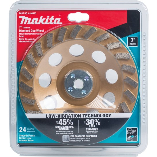 1002454977 -Makita 7 in. Diamond Cup Wheel - 1