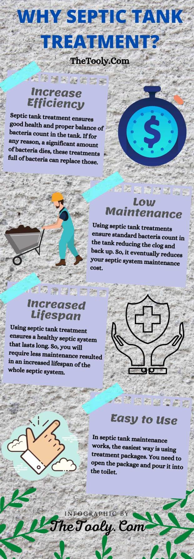 why septic tank treatment infographic