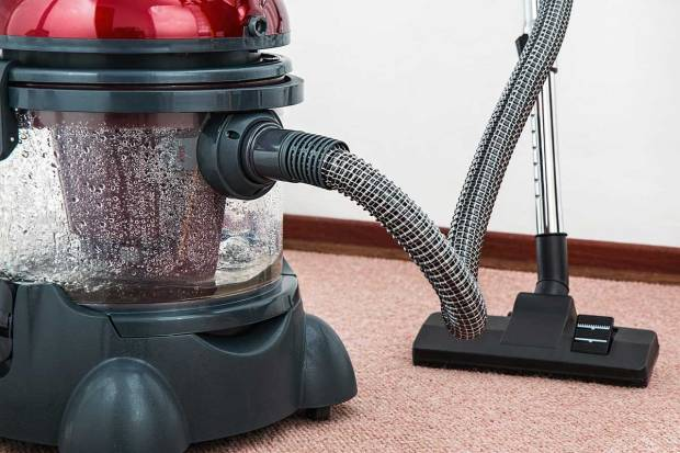 use a shop vac to collect dust