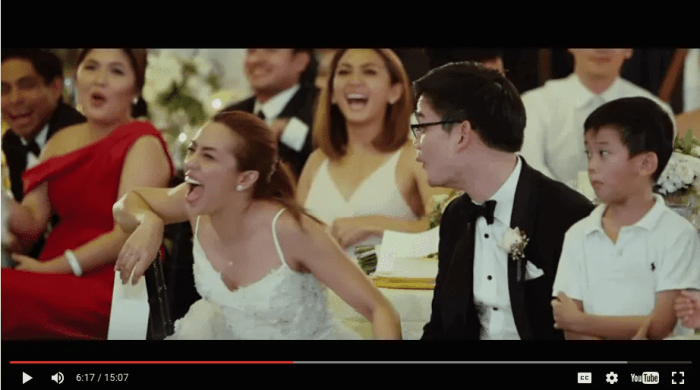 What made them laugh? Screencap from Video by Jason Magbanua.