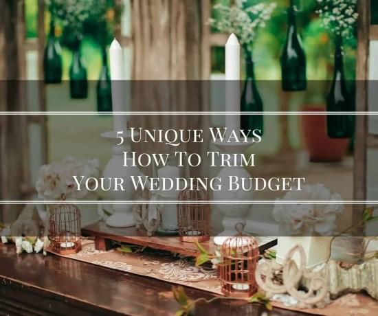 Trim Your Wedding Budget