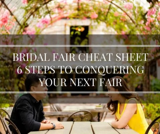 bridal fair cheat sheet