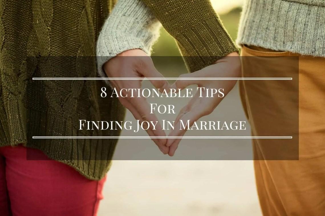 finding joy in marriage