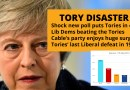 Lib Dems beating the Tories in disaster for May