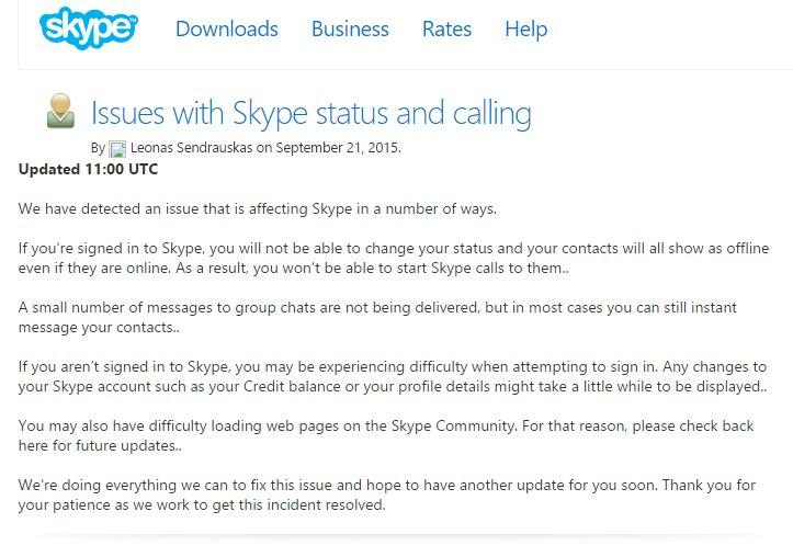 SkypeDown Info