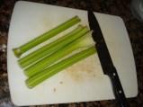 Chop your fresh celery