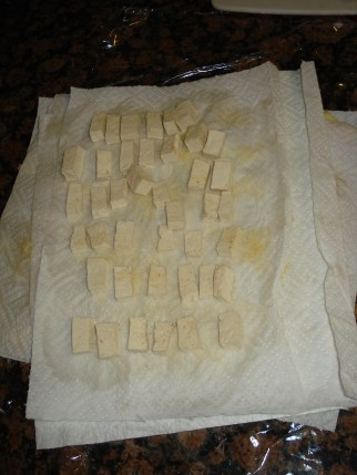 Sprinkle Tofu with Garlic Powder