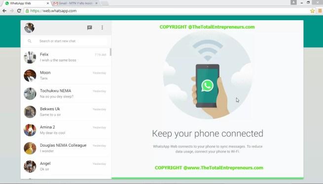 WhatsApp in your desktop computer