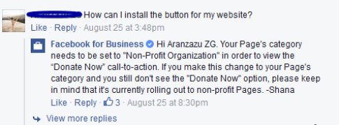 Facebook Donate Now Button To Nonprofits 3