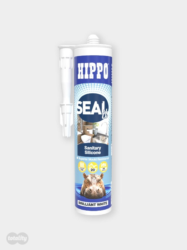 Hippo SEALit Sanitary Silicone 290ml Cartridge Brilliant White