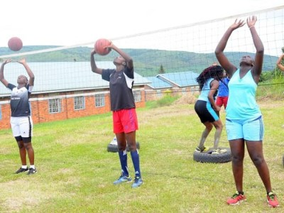 Volleyball Girls U20 camp Isingiro - the touchline sports