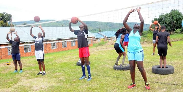 Volleyball Girls U20 camp Isingiro - the touchline sports