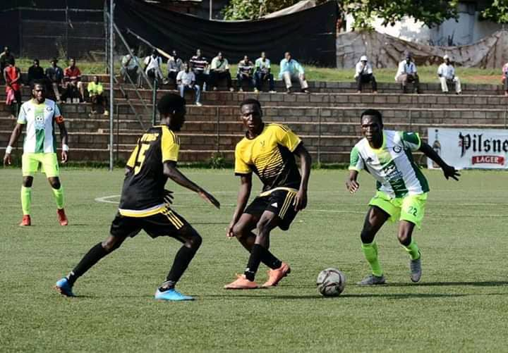 MYDA FC in action during their StarTimes FUFA Bog League encounter with Katwe United last season (2019/20) at the StarTimes Stadium Lugogo