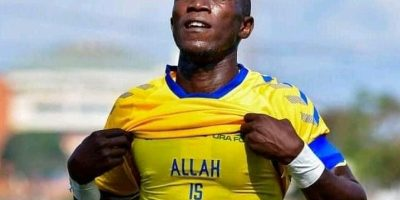 Shafic Kagimu after scoring for URA FC against Police FC