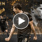 The Touchline Sports - Robert Lewandowski presented with 2021 European Golden Shoe