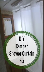 how to fix a camper shower curtain