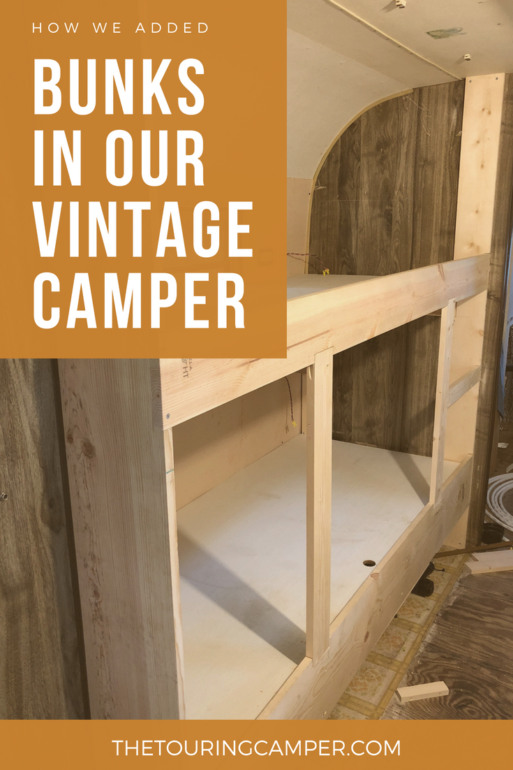 Building Bunks For A Vintage Camper The Touring Camper