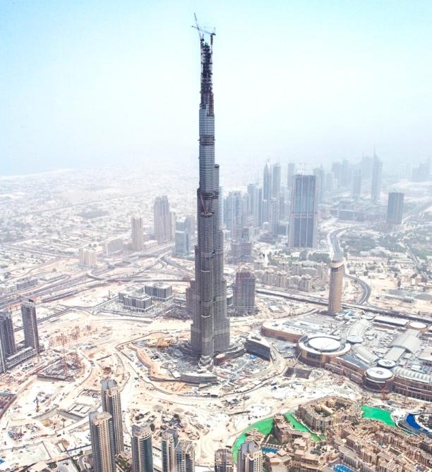 Burj Khalifa under construction