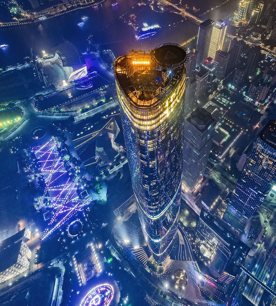 Guangzhou International Finance Center Is The Second Tallest Building And Third Structure In China It Stands 438 Meters
