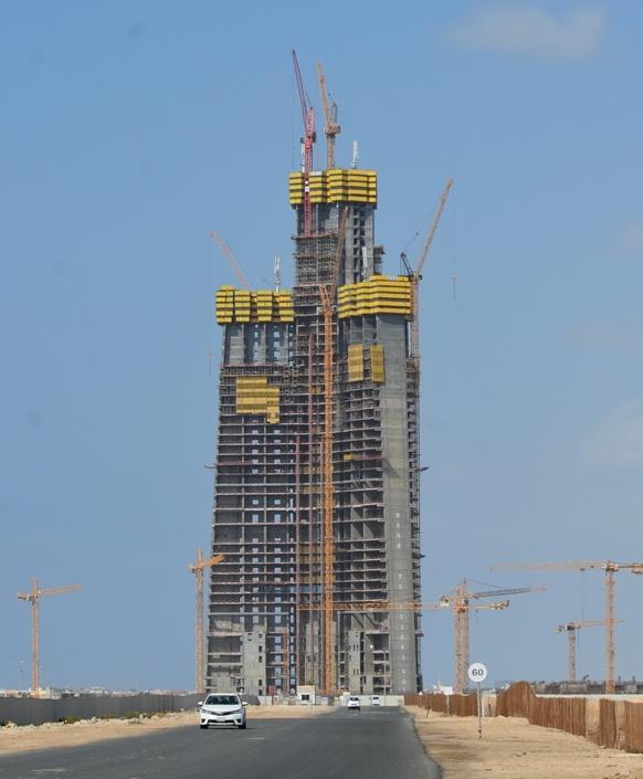 Jeddah Tower seen in December 2016
