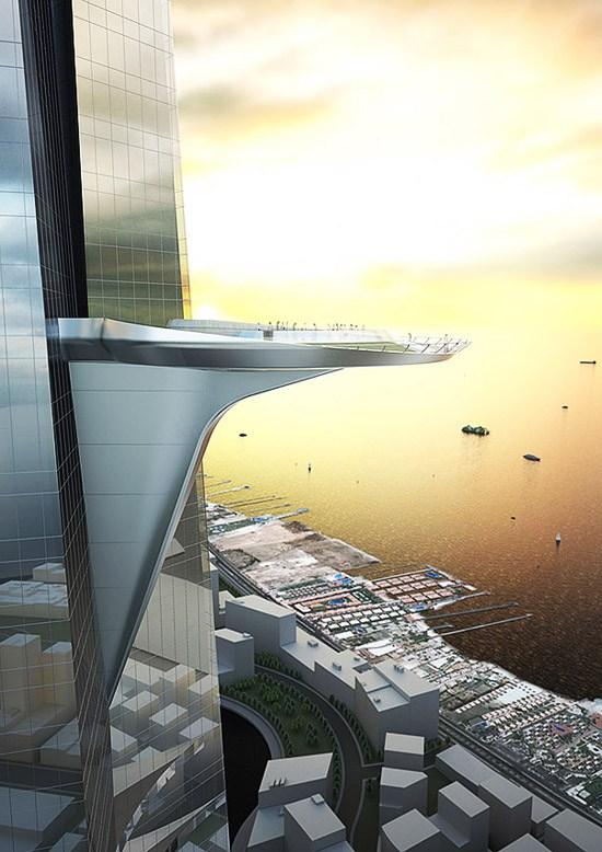 The sky terrace on Jeddah Tower