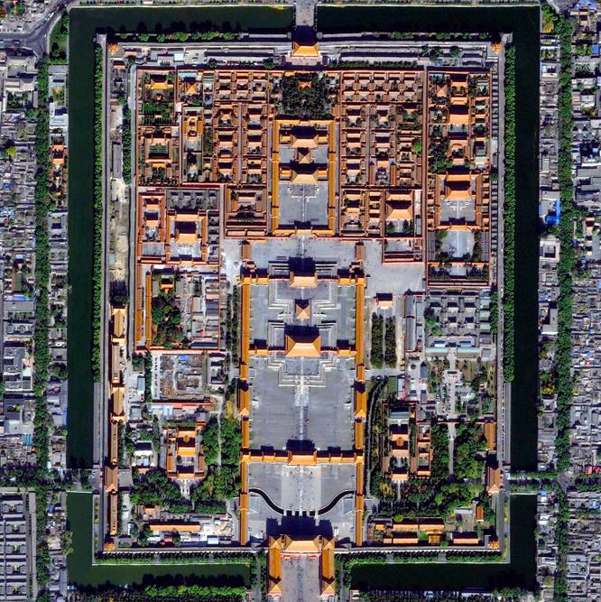 Forbidden City looked from above