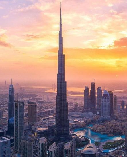 Burj Khalifa at sunset