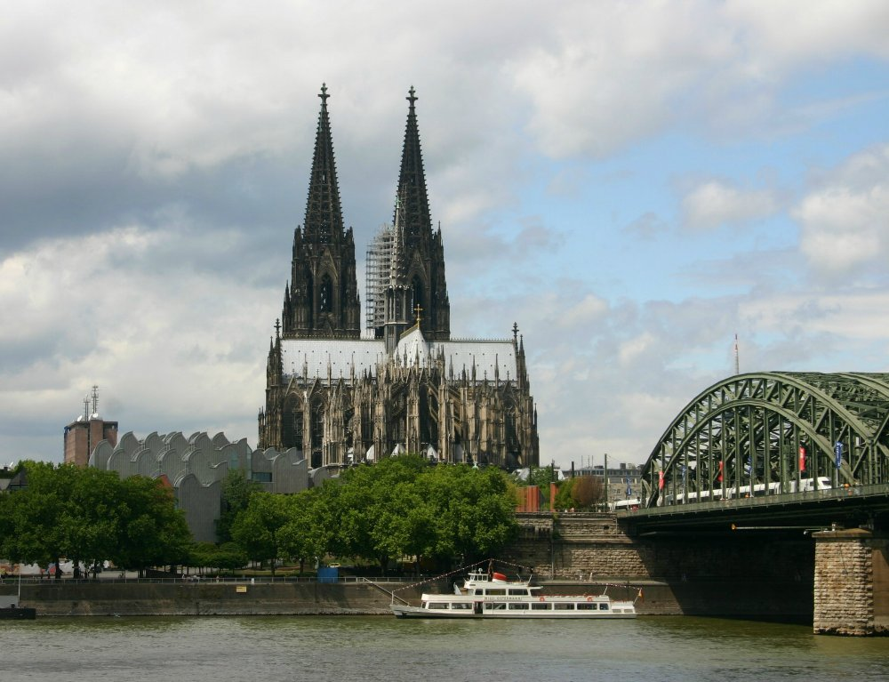 Cologne Cathedral seen from the Rhine