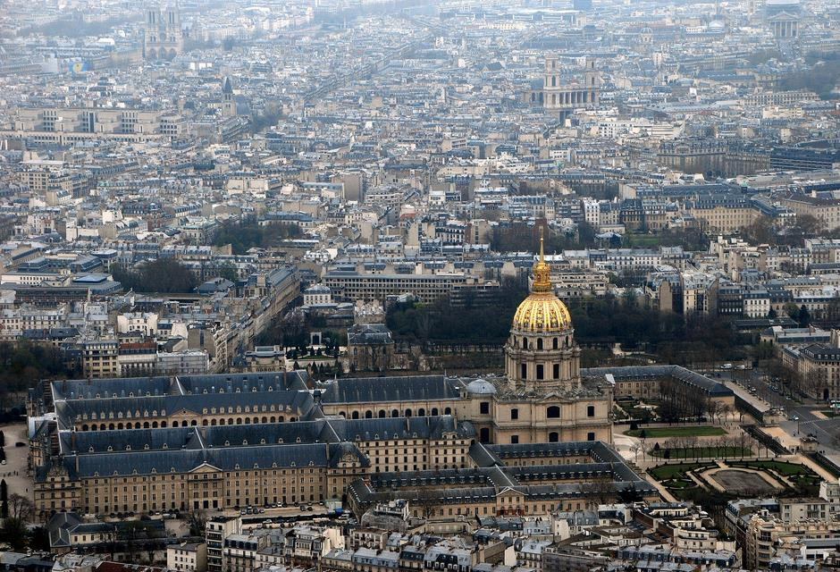 Les Invalides seen from the Eiffel Tower