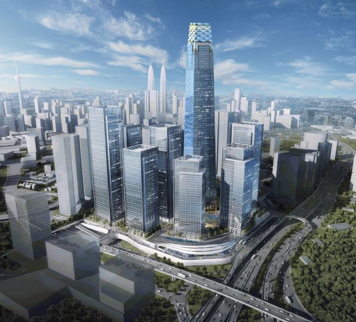 A render of Tun Razak Exchange