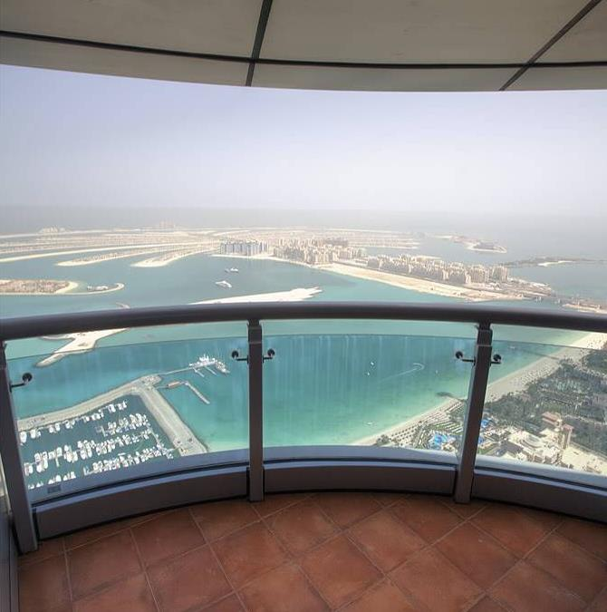 The Palm Jumeirah seen from the top floor of Princess Tower