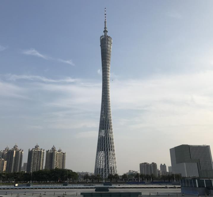 Canton Tower seen from Haixinsha Island