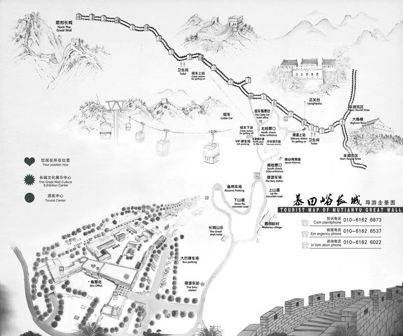 Map of Mutianyu Great Wall