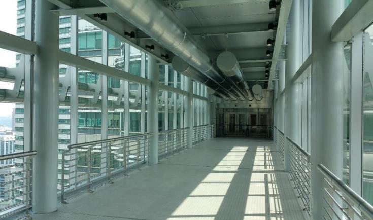 Interior view of the skybridge