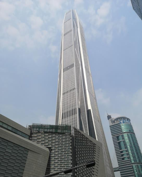 Looking up at Ping An Finance Center