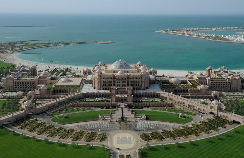 Aerial view of Emirates Palace