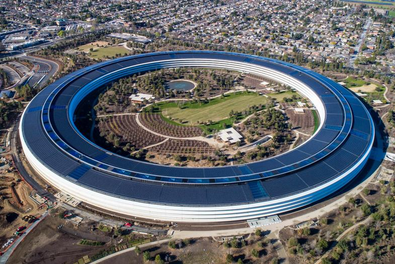 Aerial view of Apple Park
