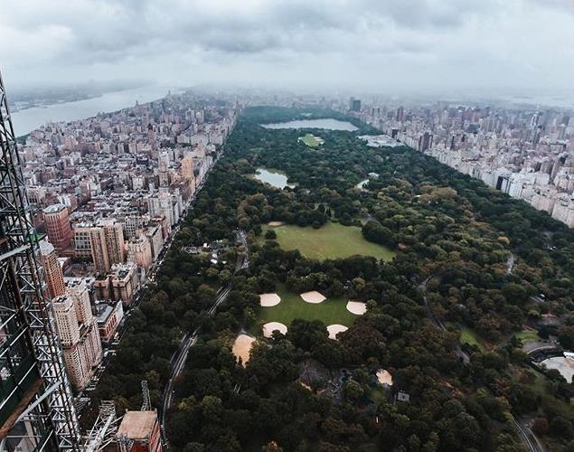 Central Park seen from the tower