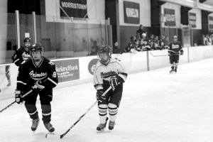 Anne Daly '15 skates down the ice at the December 11 game against Morristown-Beard. photo courtesy of Kate Sohn