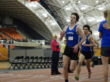 Nick Delaney '18 won the 800-meter run at the PHS Elite Meet and plans to run the same event at sectionals. photo courtesy: Will Ratner