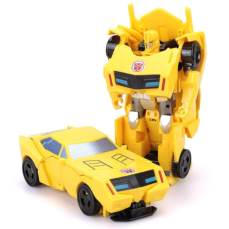 12cm Transformation Robot Kit Toys Transformer 2 in 1 one Step Deformation Optimus Hornets Model Deformed Car Toy for Boy Gift
