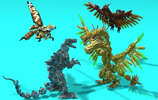 LEGO Ideas Godzilla vs King Ghidorah