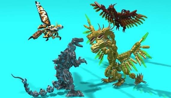LEGO Ideas Godzilla vs King Ghidorah
