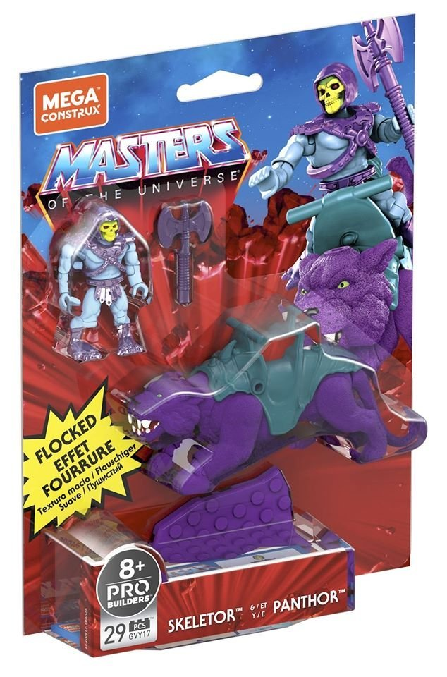 Mega Construx Masters of the Universe Skeletor & Panthor Preview