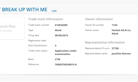 There were 342 European Trade Mark Applications Filed in OHIM yesterday, here's my favourite….